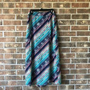 NWT multi colored double leg slit Maxi shirt